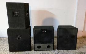 Altavoces D.A.S. 2x 500w +2x 500w subgrave pasivo, referencia: 13-elec