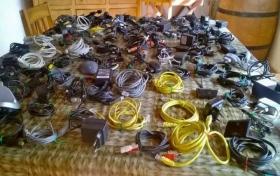 LOTE DE + DE 100 CABLES electronica,  fotos y detalles, referencia: 20-elec