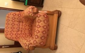 Sofá 3 plazas y 1 sillón de segunda mano, referencia: 214-ho