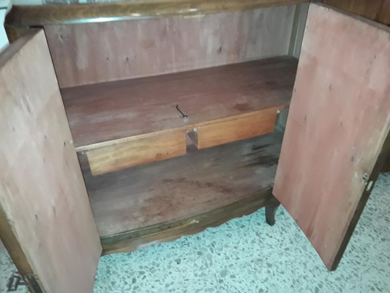 Juego de comedor de madera de haya con 80 años de , vista 3