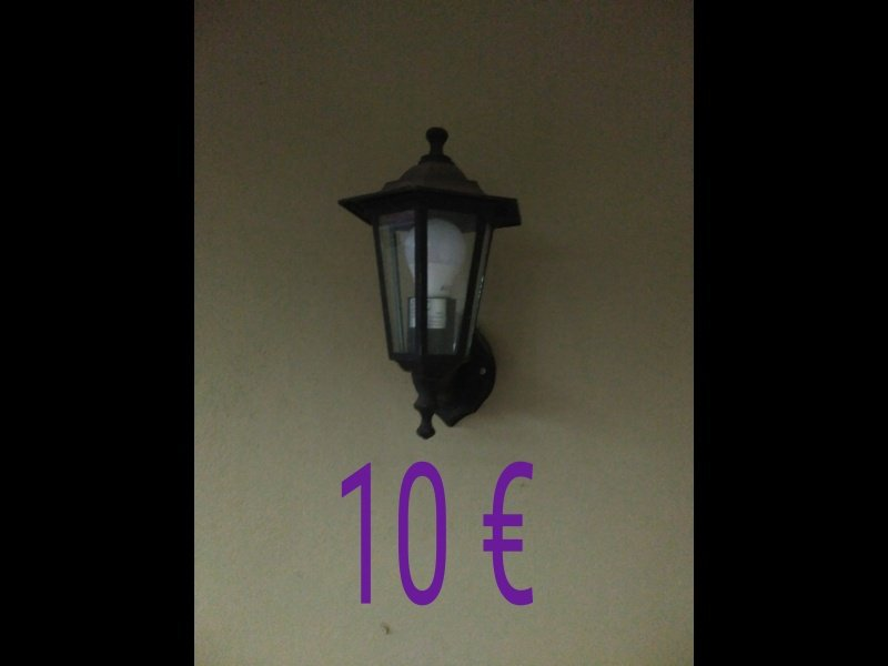 Lámpara tipo farola a paret, vista 1