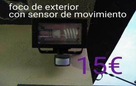 Foco con sensor de movimiento, para el exterior del hogar, referencia: 262-ho