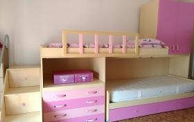Cama Doble Estructura Made in Italy de Litera Rosa, referencia: 274-ho