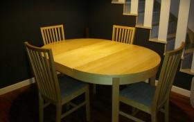 Mesa de comedor con 4 sillas, referencia: 369-ho