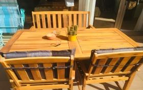 Mesa y sillas exterior de segunda mano, referencia: 379-ho