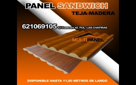 PANEL SANDWICH TEJA MADERA , referencia: 498-ho