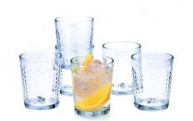 Juego de 6 vasos de cristal a tan solo ....5.00 Eu de segunda mano, referencia: 680-ho