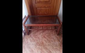 Mesa de centro.de madera y cristal., referencia: 746-ho