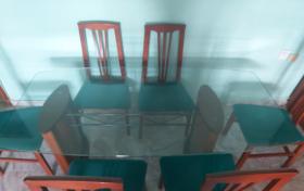 Mesa comedor con 6 sillas, referencia: 778-ho