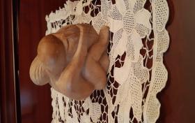 Pareja tallada en madera de segunda mano, referencia: 802-ho