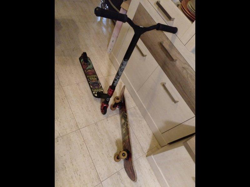 Se vende scooter y skate, vista 2